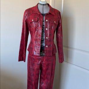 Vintage Guess Snakeskin Jacket